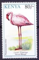 K8b- Lesser Flamingo, Water Birds, Kenya 1993 MNH - Flamingo