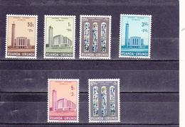 Ruanda-UrundI  1961  N° 225/230   Cathédrale D'Usulbura - Ruanda-Urundi