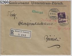1915 Tell 128/120b Zürich 15 Unterstrass 25.VI.15 (Konkursamt) - Suisse