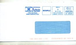 Lettre Flamme Ema Arbois Jura Fruitiere - EMA (Empreintes Machines à Affranchir)