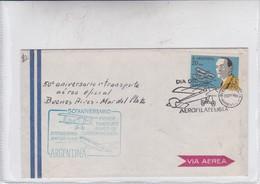 FIRST FLIGHT-50 ANIVERSARIO TRANSPORTE AEREO OFICIAL BUENOS AIRES -MAR DEL PLATA 1969. ARGENTINE.-BLEUP - Airmail