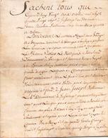 ACTE NOTARIE SUR PEAU DE 1787 DE LORRAINE ET BARR ACTE DE VENTE - Manuscripts