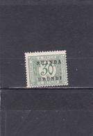 Ruanda-UrundI  1924/27  Taxe N° 13   Timbre Du Congo Belge Surchargé - Ruanda-Urundi