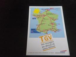 TRANSPORTS - TRAIN - Carte TGV - Trains