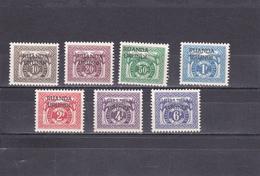 Ruanda-UrundI  1959  Taxe N° 20/26   Timbre Du Congo Belge Surchargé - Ruanda-Urundi