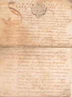 ACTE NOTARIE SUR PEAU DE 1762 DE LORRAINE ET BARR ACTE DE VENTE - Manuscripts