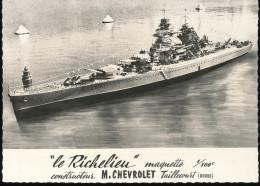 """"""" Le Richelieu """" Maquette 1/10 Constructeur M.Chevrolet  -- Taillecourt (Doubs ) - Cartoline"""