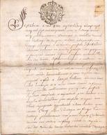 ACTE NOTARIE SUR PEAU DE 1751 DE LORRAINE ET BAR ACTE DE VENTE - Manuscripts