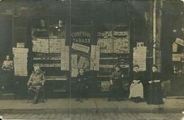 Carte-photo - RIVE DE GIER (42)  -  Comptoir TABACS -JOURNAUX , Rue Louis Feloin -( Rue Jules Guesde, Actuellemrnt) - Rive De Gier