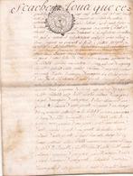 ACTE NOTARIE SUR PEAU DE 1763 DE LORRAINE ET BAR ACTE DE VENTE - Manuscripts