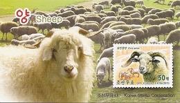 KOREA NORTH (DPR), 2015, Booklet 227 And 227a, Sheeps - Korea, North