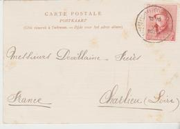 1 Carte Commerciale Adressée Par Ateliers Léon Charpentier (FOREST - BRUXELLES)  Aux Ets Devillaine à CHARLIEU (Loire) - Italia