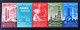 6 EME ANNIVERSAIRE DE LA REVOLUTION 1958 - BANDE NEUVE ** - YT 429/33 - MI 542/46 - Egypt