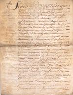 ACTE NOTARIE SUR PEAU DE 1770 DE LORRAINE ET BAR ACTE DE VENTE - Manuscripts