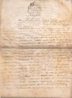 ACTE NOTARIE SUR PEAU DE 1786 DE LORRAINE ET BAR ACTE DE VENTE - Manuscripts