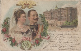 Familles Royales - Mariage Kaiser Whilhelm Guillaume II Allemagne - Postmarked Rheindürkheim  1904 - Royal Families