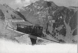 CHEMIN DE FER DE NAYE → Vollbesetzter Dampfzug Und Passanten, Lichtdruck Ca.1900 - VD Vaud