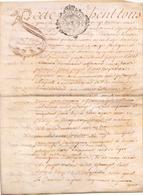 ACTE NOTARIE SUR PEAU DE 1767 DE LORRAINE ET BAR ACTE DE VENTE - Manuscripts