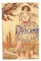 Jeune Femme Sur Une Balançoire. Signée Mauzan. 1919 - Mauzan, L.A.