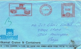 28690. Carta BOMBAY (India) 1988. Franqueo Mecanico NILKAMAL - India