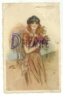 Jeune Femme Et Bouquet.  Signée Mauzan. 1923 - Mauzan, L.A.