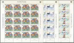 Isole Faroer 1979 Unif. 39/41Minifoglio/Minisheet Of 20 **/MNH VF - Islas Faeroes