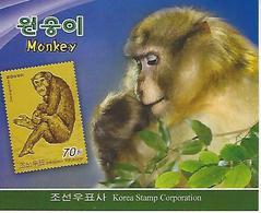 KOREA NORTH (DPR), 2016, Booklet 238 And 238a, Monkey - Korea, North