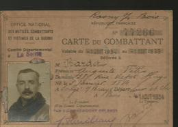 CARTE DU COMBATTANT - Documents