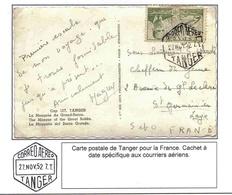 Maroc Morocco USA Carte Avion Airmail Card Cover Lettre Tanger 1952 Bureau Espagnol - Morocco (1956-...)