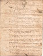 ACTE NOTARIE SUR PEAU DE 1787 DE LORRAINE ET BAR ACTE DE VENTE - Manuscripts