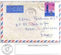 Maroc Morocco Lettre Cover Nador 1974 ( Timbre Rotary Koutoubia Marrakech ) - Morocco (1956-...)