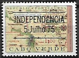 Cabo Verde Cape Verde Cap Vert 1975 Independência Indépendance Independence Surcharge OVPT, 1 Val Mnh - Cape Verde