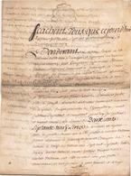 ACTE NOTARIE SUR PEAU DE 1782 DE LORRAINE ET BAR - Manuscripts