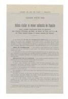 Chemin De Fer Paris à Orléans 1918 Billets De Famille Publicité (n°2-1918) Papier Fin TB 210 X 135 Mm 2 Scans - Chemins De Fer