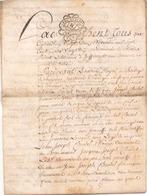 ACTE NOTARIE SUR PEAU DE 1790 DE LORRAINE ET BAR - Manuscripts