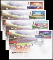 RUSSIA 2015 2018 FIFA World Cup Football Fußball Soccer Championship Stadiums Sports Moscow Sochi Sotschi Kazan FDC Mscw - 1992-.... Federazione