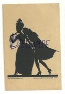 Silhouettes. Couple De Danseurs. Der Schulterkuss. Geschn. Lotte Nicklass 1918 - Silhouettes
