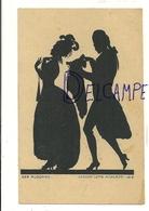Silhouettes. Couple De Danseurs. Der Ausgang. Geschn. Lotte Nicklass 1919 - Silhouettes
