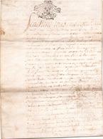 ACTE NOTARIE SUR PEAU DE 1746 DE LORRAINE ET BAR - Manuscripts