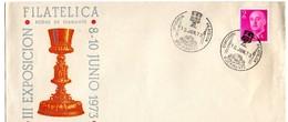 Carta Con Matasellos Commemorativo Exposicion Filatelica Bocairente 1973 - 1931-Hoy: 2ª República - ... Juan Carlos I