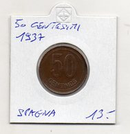 Spagna - 1937 - 50 Centesimi -  (MW1278) - [ 1] …-1931 : Regno