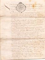 ACTE NOTARIE SUR PEAU DE 1761 DE LORRAINE ET BAR - Manuscripts