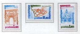 France 1981 Timbres De Service - UNESCO Mint World Heritage Thaîlande Sukhotai - Maroc Fes - Malte Fort Saint-Elme - UNESCO