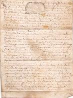 ACTE NOTARIE SUR PEAU DE 1742 DE LORRAINE ET BAR ACTE DE MARIAGE - Manuscripts