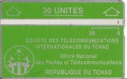 CARTE MAGNETIQUE-TCHAD-30U-VERT-V° N° En Bas A Droite Inversé 244 A06888-TBE - Tchad