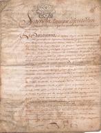ACTE NOTARIE SUR PEAU DE 1783 DE LORRAINE ET BAR - Manuscripts