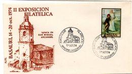 Carta Con Matasellos Commemorativo Exposicion Filatelica Basauri (vizcaya) - 1931-Hoy: 2ª República - ... Juan Carlos I