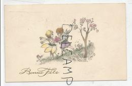 Petites Fées, Fleurs. Bonne Fête. Signée Hannes Petersen. 1937 - Petersen, Hannes