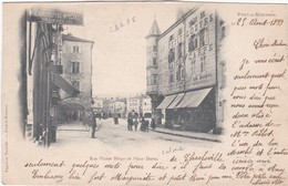 F54-028 PONT A MOUSSON - Rue Victor Hugo Et Place Duroc - DEVANTURE AU PETIT LOUVRE MAISON CARPE... - Pont A Mousson