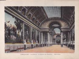 VERSAILLES. LE CHATEAU. LA GALERIE DES BATAILLES. CIRCA 1900's-LAMINA SHEET PLANCHE.-BLEUP - History